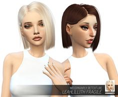 Leahlillith Fragile: Solids at Miss Paraply via Sims 4 Updates  Check more at http://sims4updates.net/hairstyles/leahlillith-fragile-solids-at-miss-paraply/