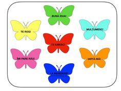 Cuvinte magice cu fluturi. 3 modele – Catalina Bîrsan Pikachu, Kindergarten, Parenting, Education, Diy, Blog, Character, Decor, Centre