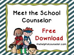 FREE: Elementary School Counselor Introduction Lesson  #SchoolCounseling