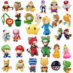 Nintendo Super Mario Series Plush Character Soft Toy Stuffed Animal Doll Teddy