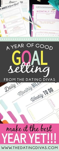 A Year of Goals Printable pack! These are some awesome ideas to make 2015 rock! Our new year goals printable pack is the ultimate goal setting pack to make this year your best year yet! Setting goals for the new year just got easier! Goals Printable, Printable Planner, Printables, Filofax, Planners, Diy Spring, Blogging, New Year Goals, 2016 Goals