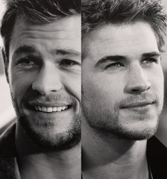 "And God said, ""Let there be the Hemsworth brothers."" Personally, I think Chris Hemsworth is waayyy more attractive Liam Hemsworth, Hemsworth Brothers, Christian Grey, We Are The World, In This World, Dani Martinez, Make Me Happy, Make Me Smile, Look At You"