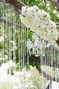 Floral/Crystal Wedding Ceremony Backdrop