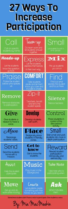 27 Ways to increase participation. Which way is your favorite?