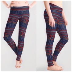 Cute Sloth Ugly Christmas Sweater Pattern Leggings - A Lazy Winter Sweater Leggings by Slothgirlart on DeviantArt Sold here: http://www.society6.com/product/a-lazy-winter-sweater-q1z_leggings#s6-8106488p43a56v417