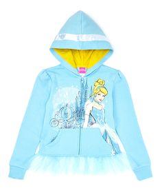 Loving this Blue Cinderella Hoodie - Girls on #zulily! #zulilyfinds
