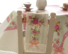 dollhouse miniature floral canister by Mondinadollhouse on Etsy