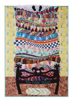The Princess and the Pea fairy tale quilt: Jill's Royal Roost by Jill Monley.  Inspired by Gail Garber's workshop at Empty Spools 2012.