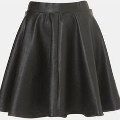 Poshmark Pick: Topshop Faux Leather Skater Skirt