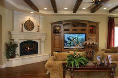 corner fireplace couch placement