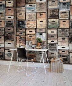 A favorite wallpaper from Rebel Walls, Industriel Urban Farm L.A., vintage! #rebelwalls #wallpaper #wallmurals
