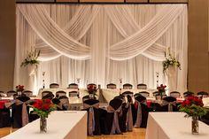 Black, Silver & Red Decor #Wedding inspiration #Wedding decor