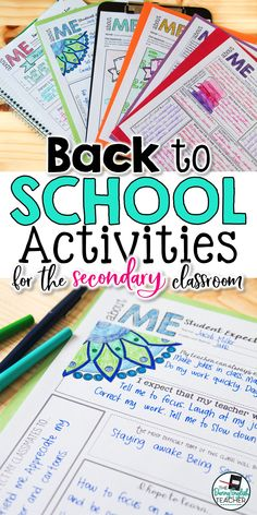 Ideal for middle school and high school students, these back-to-school activities are a great way to start the new school year. Perfect for the first Middle School Ela, High School First Day, Back To School Highschool, First Day Activities, Icebreaker Activities, First Day Of School Activities, Beginning Of The School Year, New School Year, Icebreakers