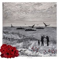 I Saw Three Ships from The War Poppy Collection by remembrance artist Jacqueline Hurley Military print Royal Navy Art Remembrance Day Poppy, Royal British Legion, Original Paintings, Original Art, Painting Prints, Art Prints, World War One, Royal Navy, Military Art