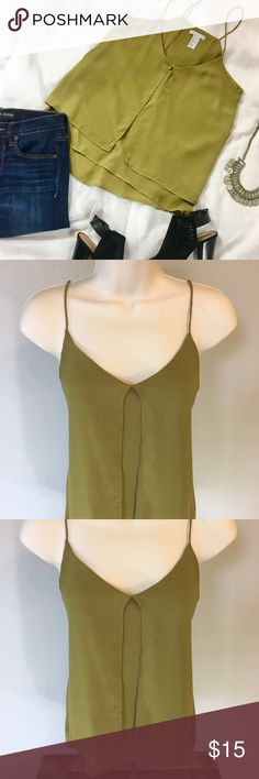  H&M  Tank Top Perfect condition! How the front opens up is a nice detail to any outfit! Price is FIRM. I give a 5% discount if you buy more than one item. (Accessories in the picture are not included with the item) H&M Tops Tank Tops
