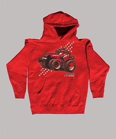 Take a look at this Red 'Case IH' Tractor Hoodie - Toddler & Kids by International Harvester on #zulily today!