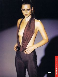 Kate Moss for Gucci Fashion Show, Spring/Summer 1997 tag: Tom Ford