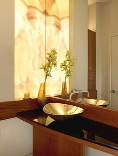 Contemporary Marble Wall Powder Room Design Ideas, Pictures, Remodel and Decor Casa Clean, Powder Room Design, Marble Wall, Fireplace Design, Bathroom Interior Design, Bar Interior, Beautiful Bathrooms, Decoration, Room Decor