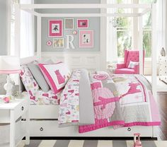 Kitty Quilted Bedding | Pottery Barn Kids