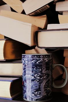 coffee and a stack of books--yes, please