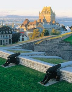 The Ramparts of the Citadel overlooking The Frontenac,  Quebec City