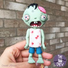 FREE downloadable PDF TUTORIAL with TEMPLATES - Zombie Cake Topper :)