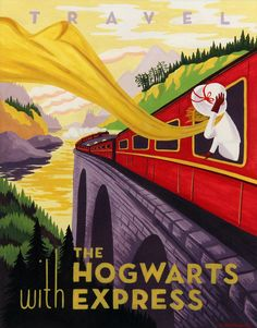 "Hogwarts Express by Caroline Hadiaksono -- Artists Pay Tribute to Harry Potter - My Modern Met- Harry Potter Tribute Exhibition opened at Gallery Nucleus, Alhambra, CA. This exhibition is comprised of some top-notch fan art that has touched the imaginations of so many readers."" If you can't make it out to Alhambra, CA, you can check out all of the art over on the Gallery Nucleus website."