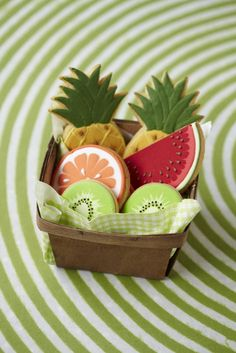 Tropical fruit cookies - Cake Decorating Magazine