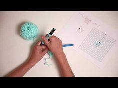 Laços Unidos - Tutorial quadrado de crochet - YouTube
