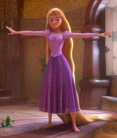 """Disney Movie """"Tangled""""-Rapunzel and Pascal Disney Rapunzel, Tangled Rapunzel, Princess Rapunzel, My Princess, Cosplay Rapunzel, Rapunzel Dress, Tangled Dress, Tangled Costume, Robes Disney"""