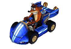 Crash Nitro Kart - Crash Bandicoot with Kart Free Papercraft Download