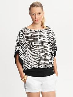 Trina Turk Zazzy Zebra tunic top | Banana Republic