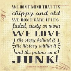 Sign about junk