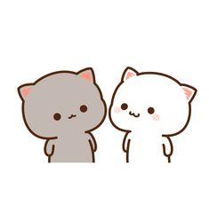 Funny Drawings Animals Kawaii 33 Ideas For 2019 Cute Cartoon Images, Cute Love Cartoons, Cute Cartoon Wallpapers, Griffonnages Kawaii, Chat Kawaii, Chibi Cat, Cute Chibi, Cute Love Gif, Cute Cat Gif