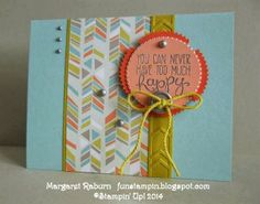 Fun Stampin' with Margaret, CCMC291.  Yippee Skippee sentiment set, Starburst Framelits, Sweet Sorbet DSP (SAB '14)