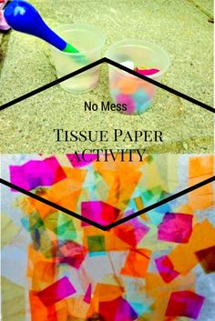 Tissue paper stained glass windows a fun activity for kids to try at home on a rainy day! A no mess activity which is suitable for all ages.