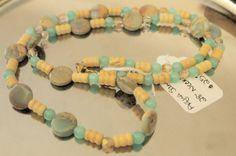 "Aqua  Sands 28""  Necklace | hollyshobbiesncrafts - Jewelry on ArtFire"