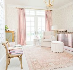 Inside a Perfectly Elegant Pink-and-Gold Nursery via @mydomaine