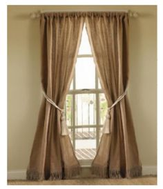 images about Rustic curtains on Pinterest Rustic