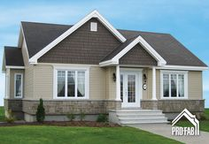 High quality modular homes, Find your Cordiale model at the best price. Contact our Pro-Fab Experts; House Plans 2 Story, Best House Plans, Small House Plans, House Floor Plans, Bungalow Exterior, House Paint Exterior, Exterior House Colors, Facade Design, House Design
