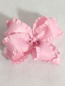 Large Double Ruffle Bow, more colors available