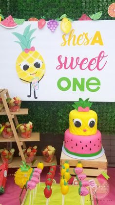 Fruit Theme Birthday Party & Free SVG & Printable files – Gina C. Creates Fruit Theme Birthday Party & Free SVG & Printable files – Gina C. Creates The post Fruit Theme Birthday Party First Birthday Theme Girl, Watermelon Birthday Parties, 1st Birthday Party For Girls, Fruit Birthday, Fruit Party, Birthday Cakes, Birthday Theme Parties, Birthday Photos, Party Themes For Girls
