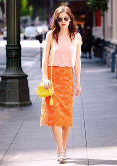 Blush Pink + Yellow + Tangerine = A sublime summer ensemble!