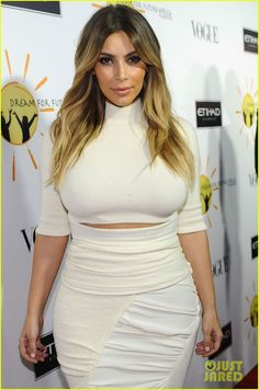 Kim Kardashian is white hot as she attends the 2013 Dream for Future Africa Foundation Inaugural Gala honoring Franca Sozzani of Vogue Italia held at Spago in Beverly Hills, Calif. #Hollywood #Fashion #Style #Beauty