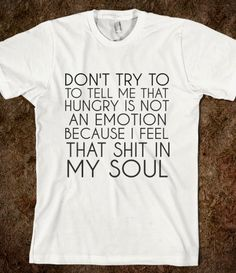 HUNGRY IS AN EMOTION