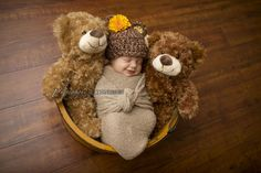 Baby Bear Hat - Fall Autumn Hat- Photography Prop - Baby Girl or Baby Boy. $25.00, via Etsy.