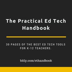 Free Technology for Teachers: The Practical Ed Tech Handbook - Download It Today