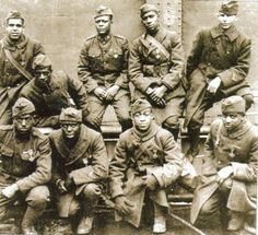 """all black 369th infantry """"Harlem Hell Fighters"""" World War I african american heroes"""