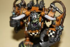 Ork painting from the Grumpygamer