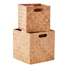 Our beautiful Herringbone Bamboo Cube combines strength and style, all in one for storage in any roo Small Entryway Organization, Playroom Storage, Shop Storage, Cube Storage, Entry Closet, Living Room Essentials, Bamboo Basket, Bamboo Crafts, Custom Closets